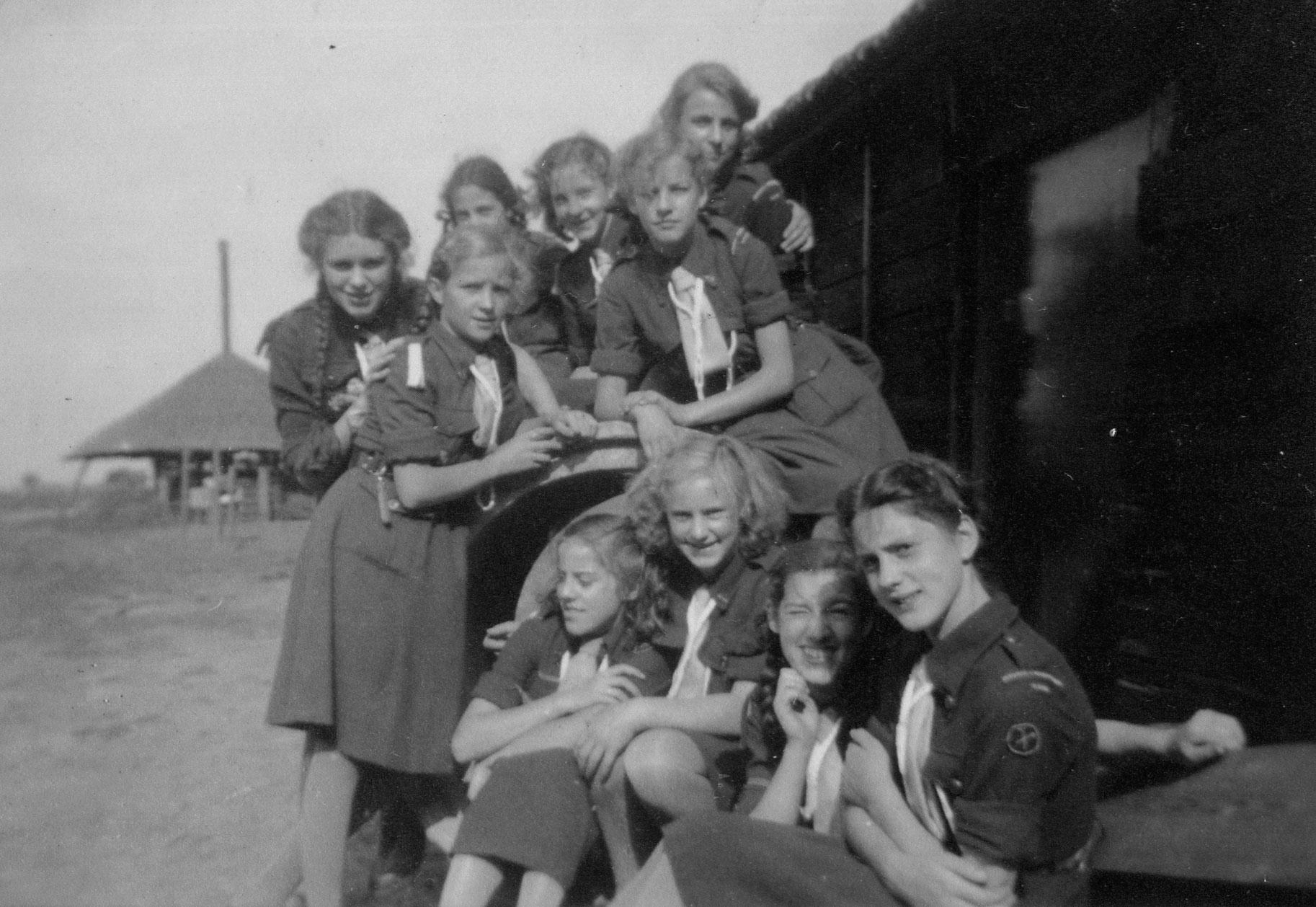 Kamperen rond 1955